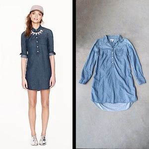 J. Crew Keeper Chambray Shirt Dress size 2